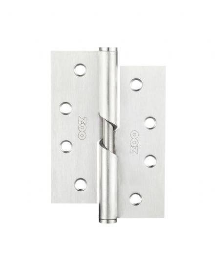 Zoo Hardware ZHRBR243S 102x76X2.5mm Right Hand Rising Butt Hinge Satin Stainless Steel